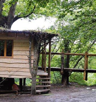 cabane dans les arbres cabane sous bois la cabane en l 39 air. Black Bedroom Furniture Sets. Home Design Ideas